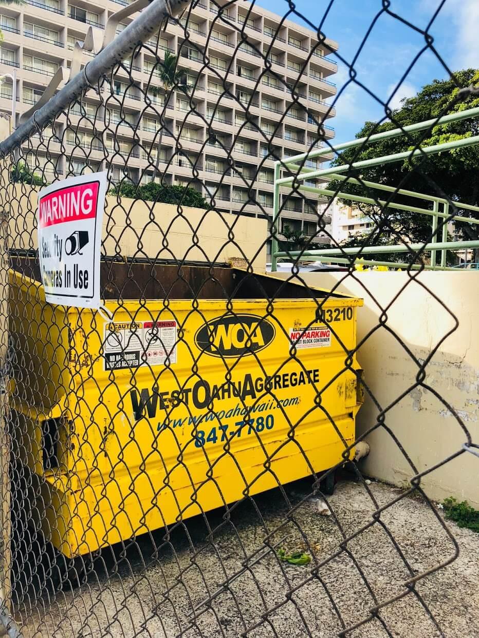 Ala Wai Palmsのゴミ箱