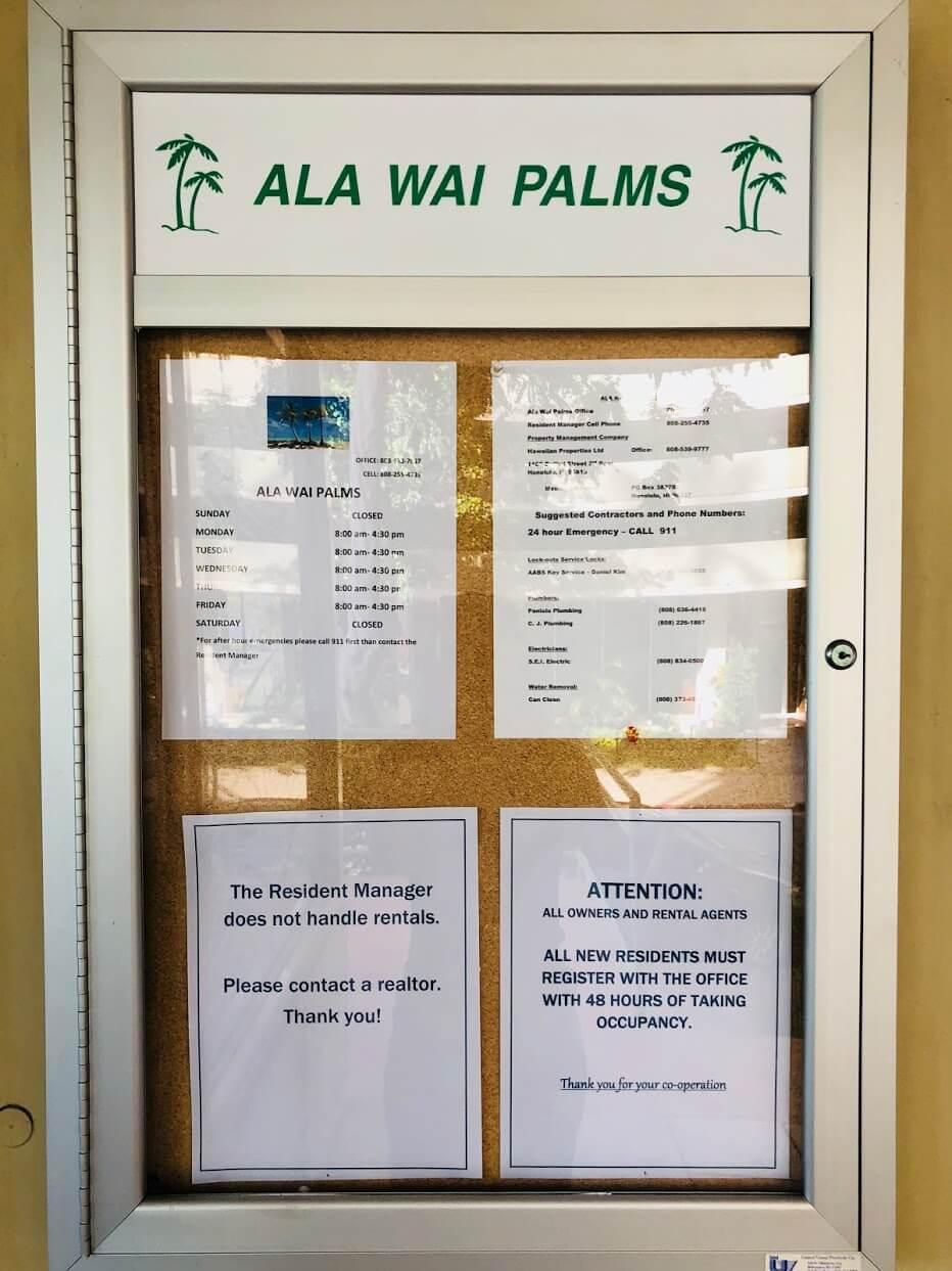 Ala Wai Palmsの掲示板