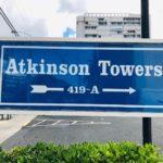 Atkinson Towersの看板
