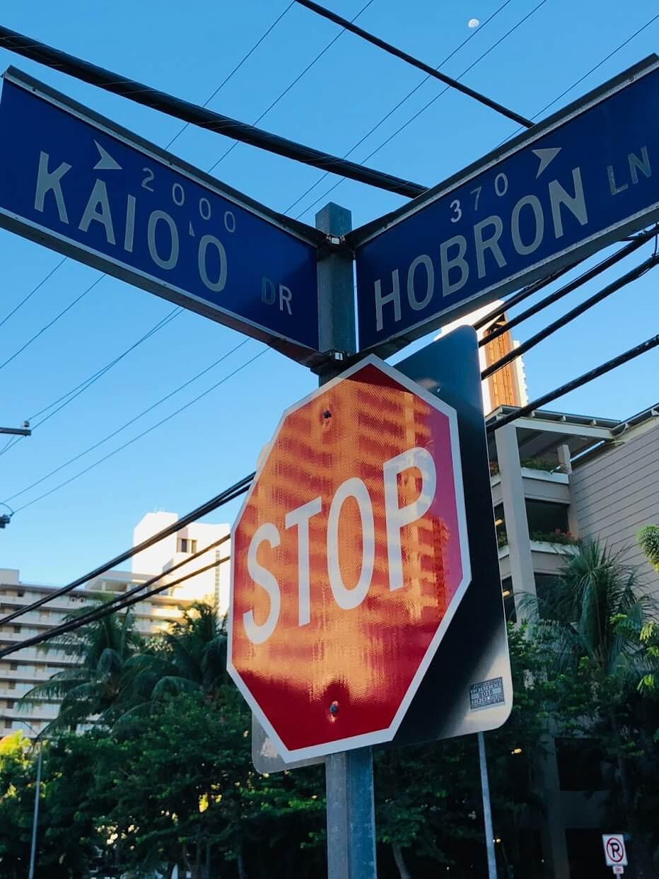 Laniakea Apartmentsの標識
