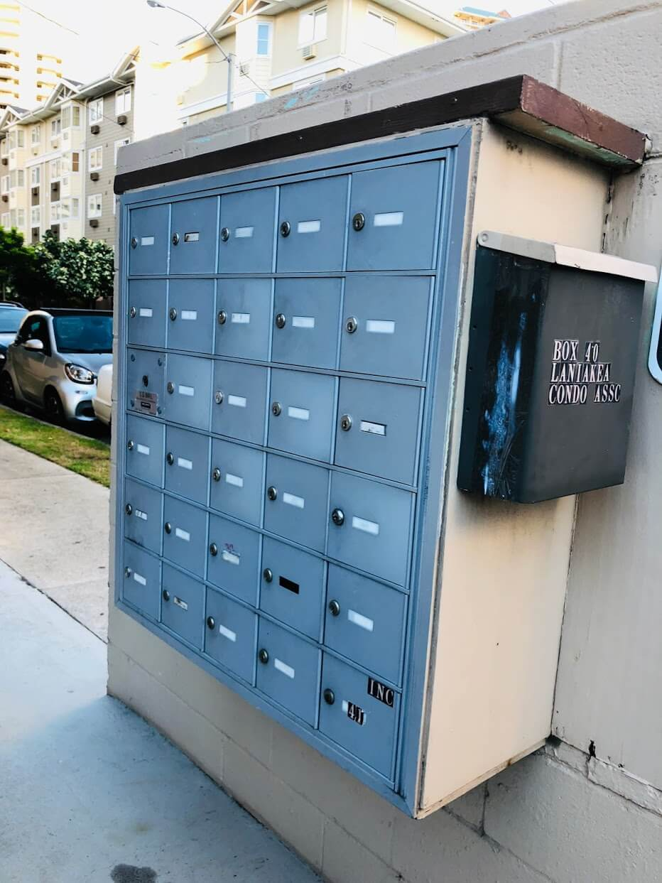 Laniakea Apartmentsの郵便煎れ