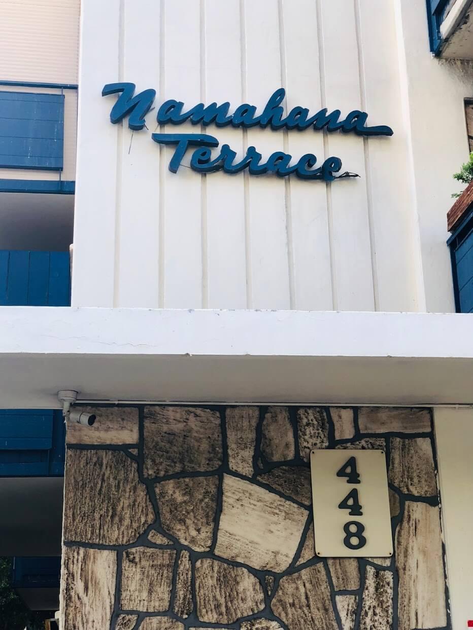Namahana Terraceの看板