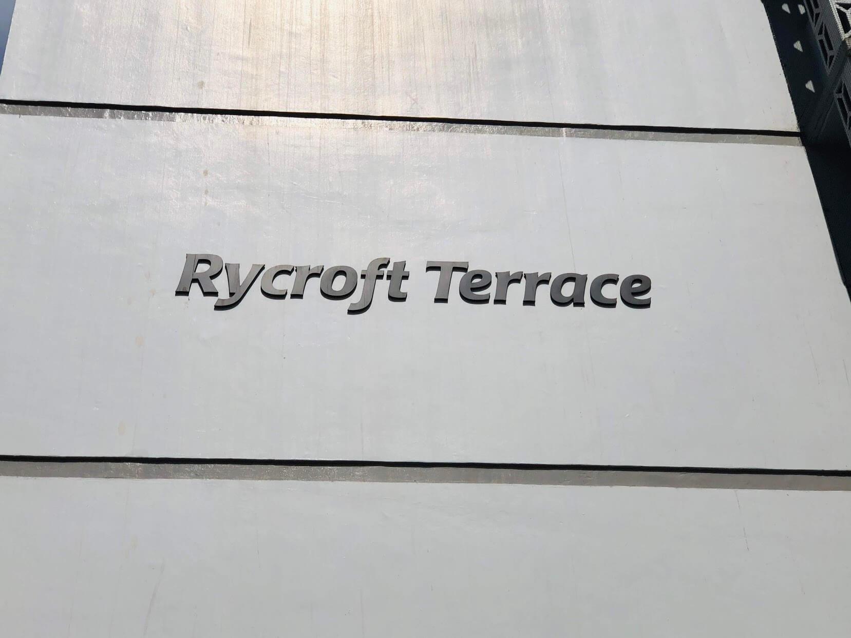 Rycroft Terraceの看板