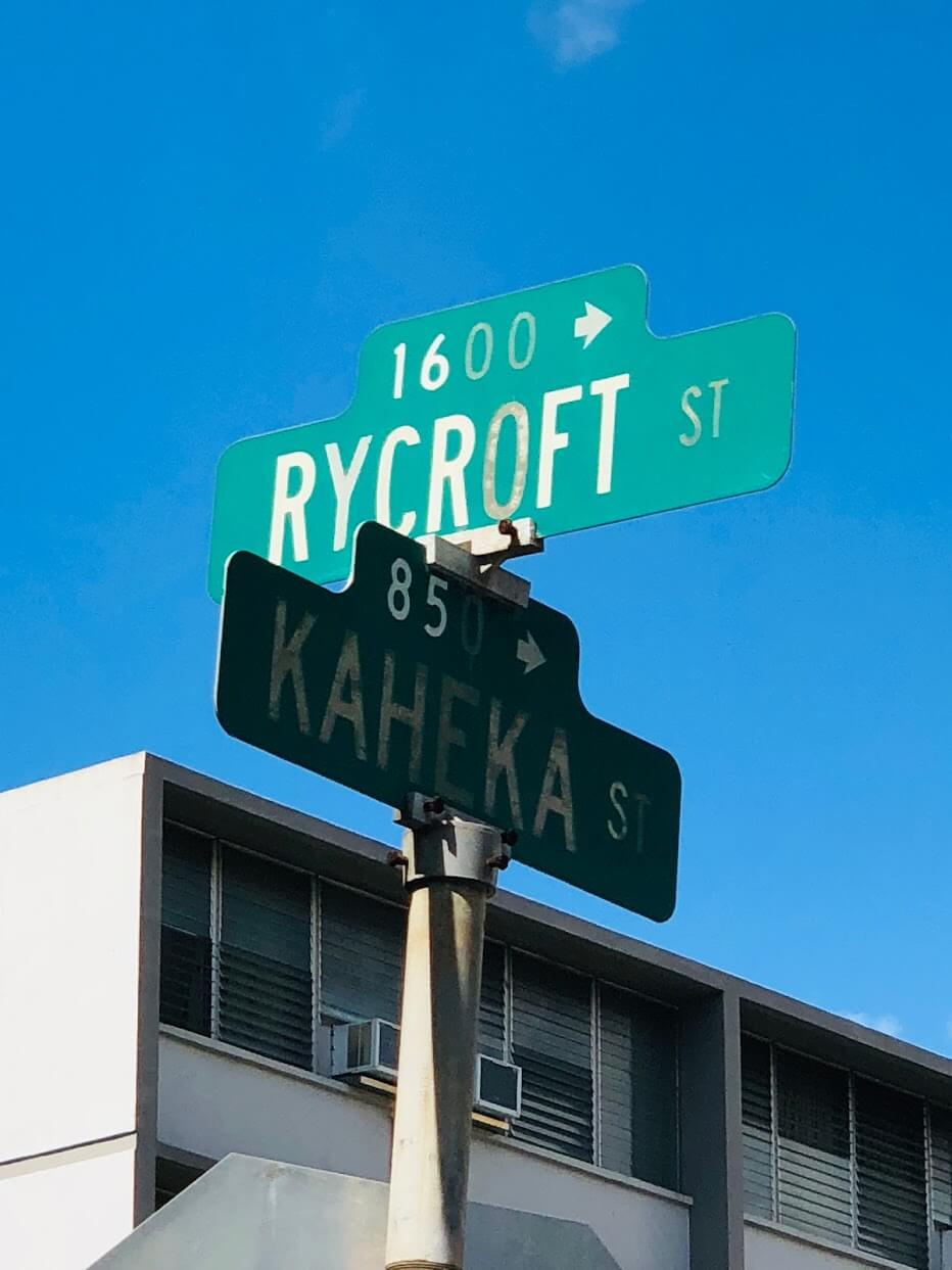 Rycroft Terraceの標識
