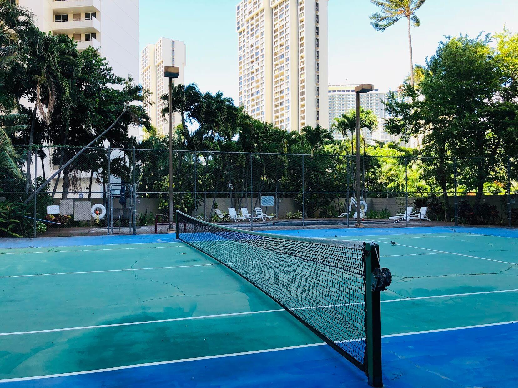 Waikiki Marinaのテニスコート