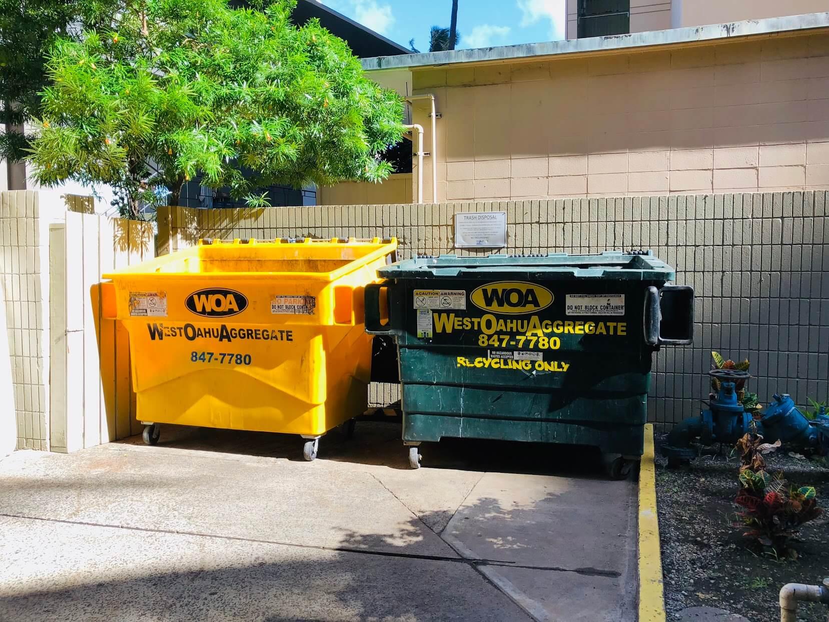 Waikiki Marinaのゴミ集積場