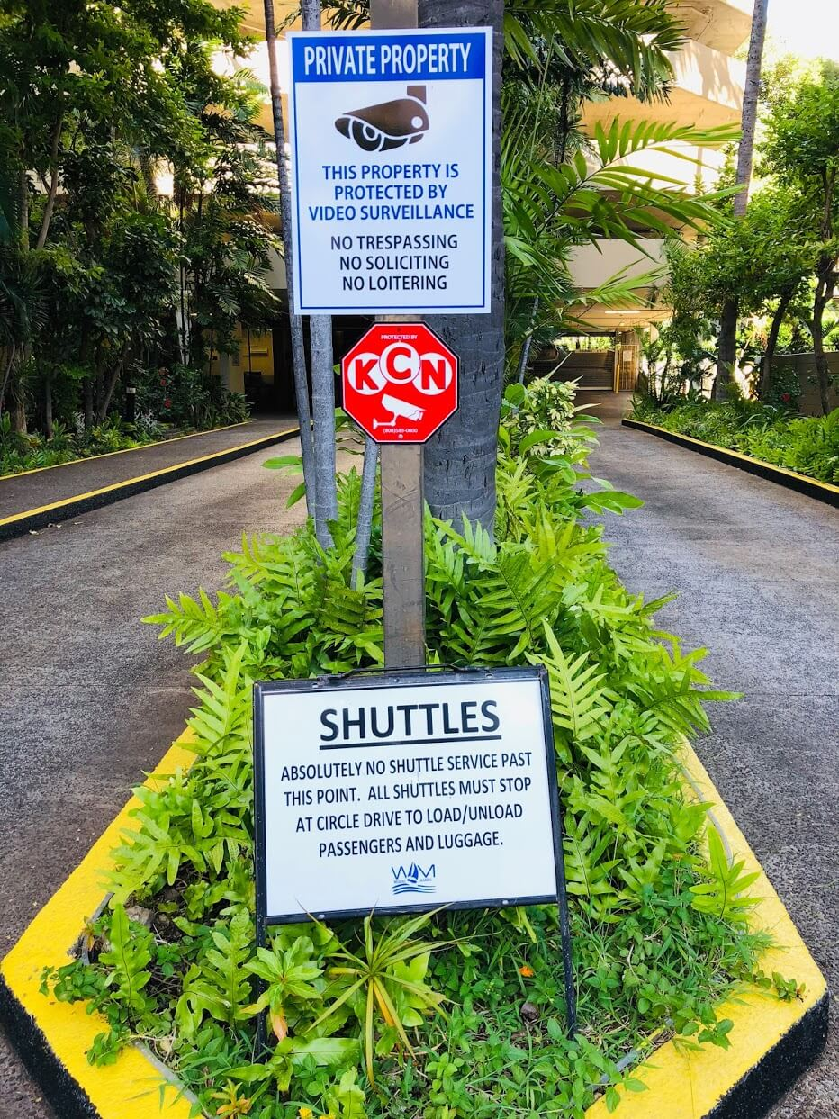 Waikiki Marinaの注意喚起