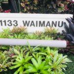 1133 Waimanuの看板