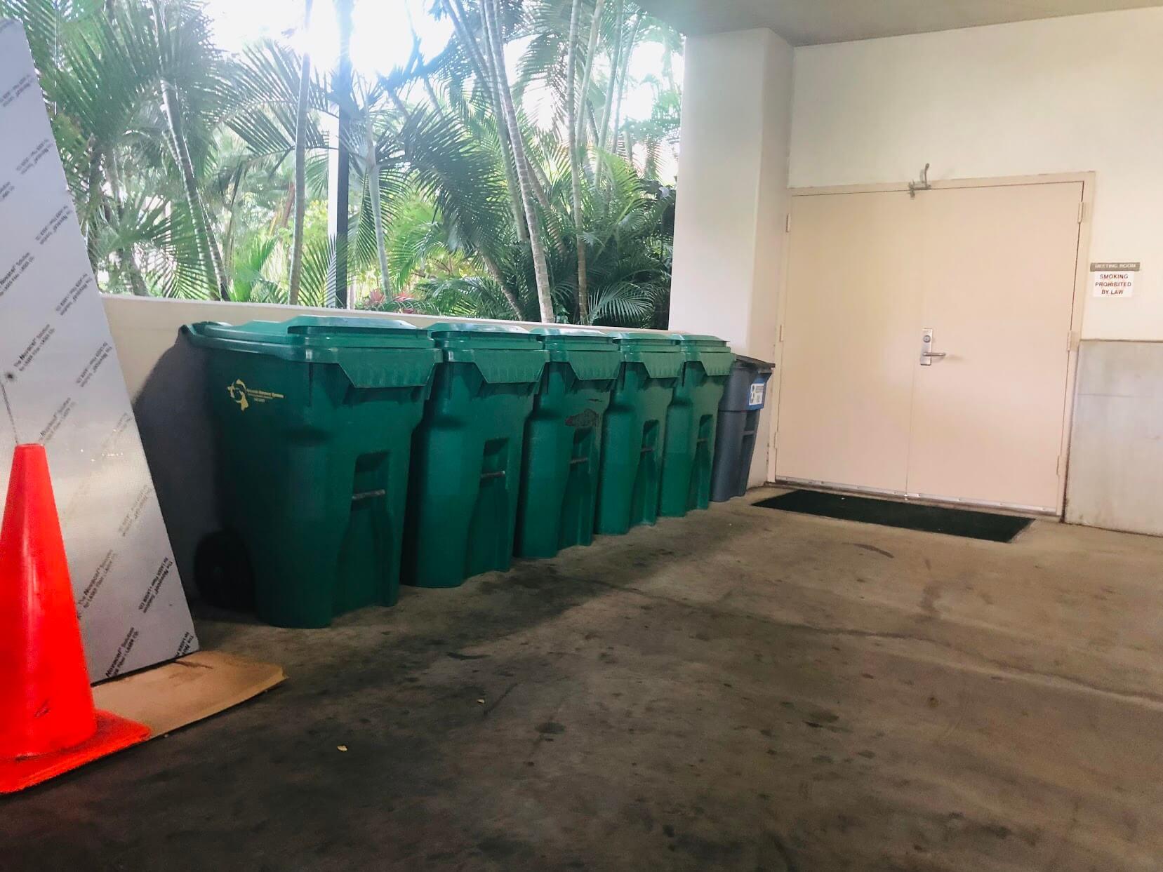 1133 Waimanuのゴミ箱