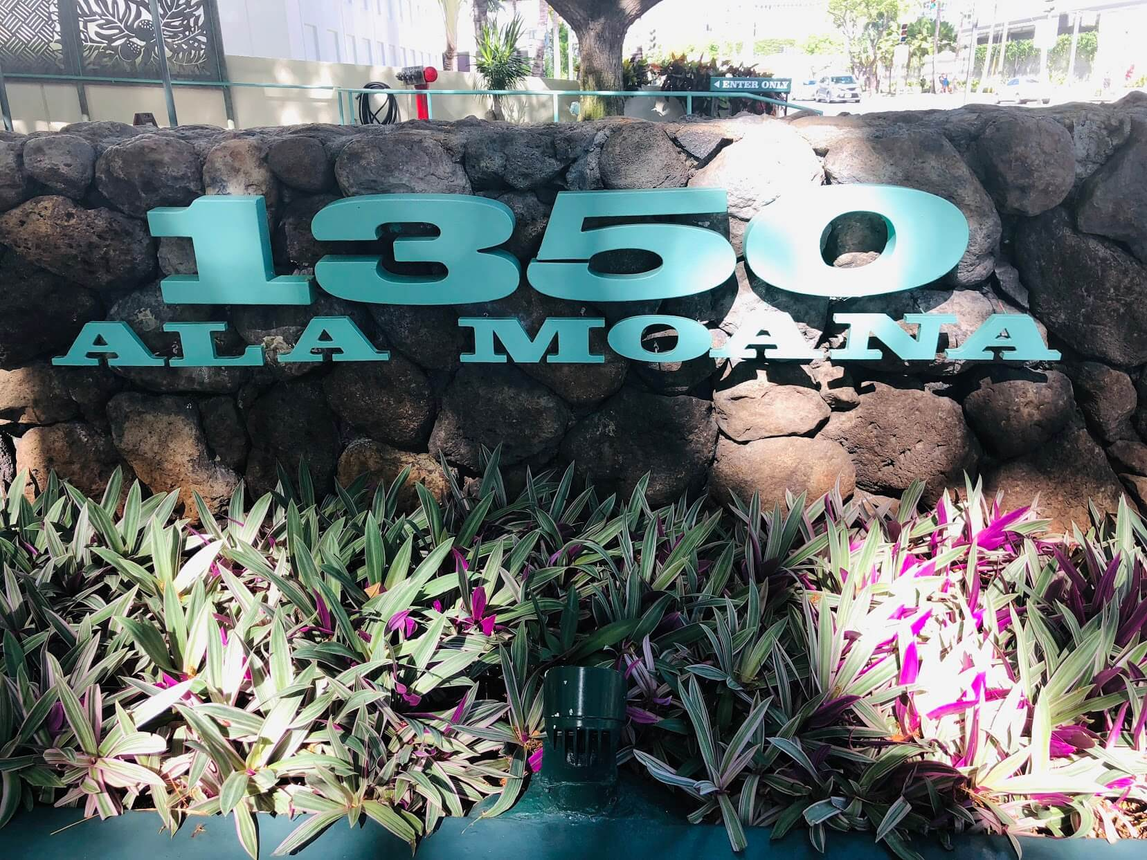1350 Ala Moanaの看板