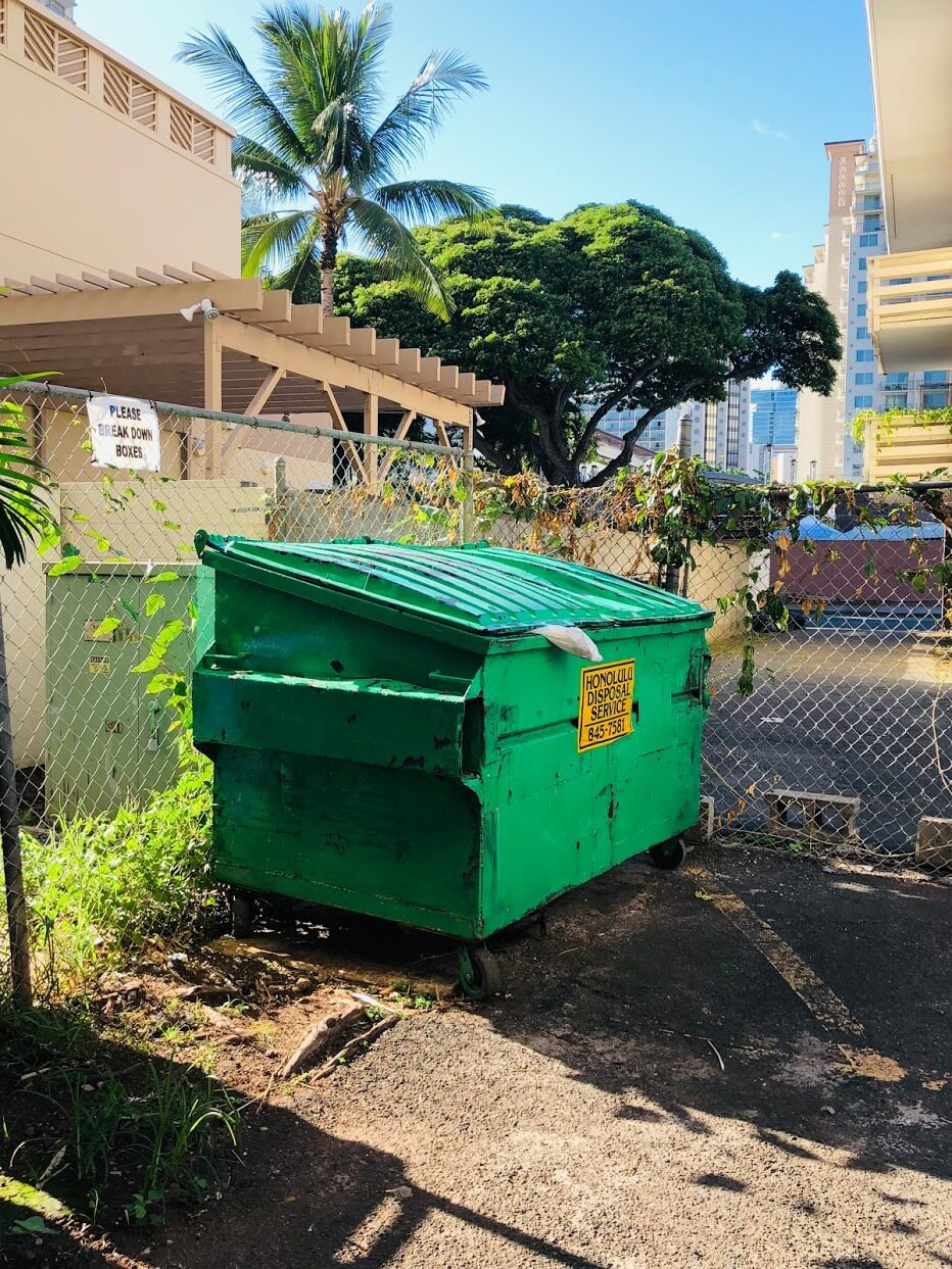 222 Kaiulani Apartmentsのゴミ箱