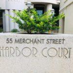 Harbor Courtの看板