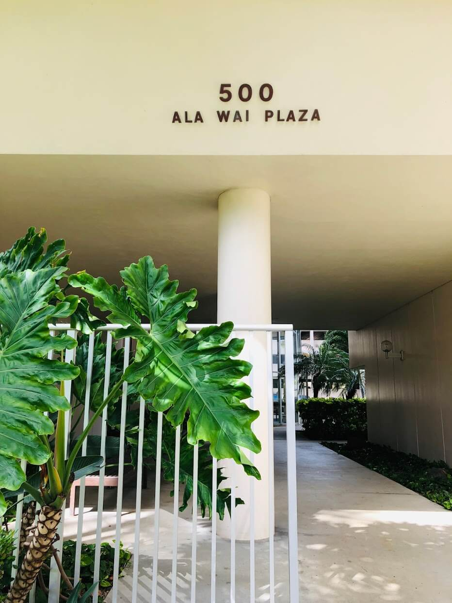 500 Ala Wai Plazaのエントランス