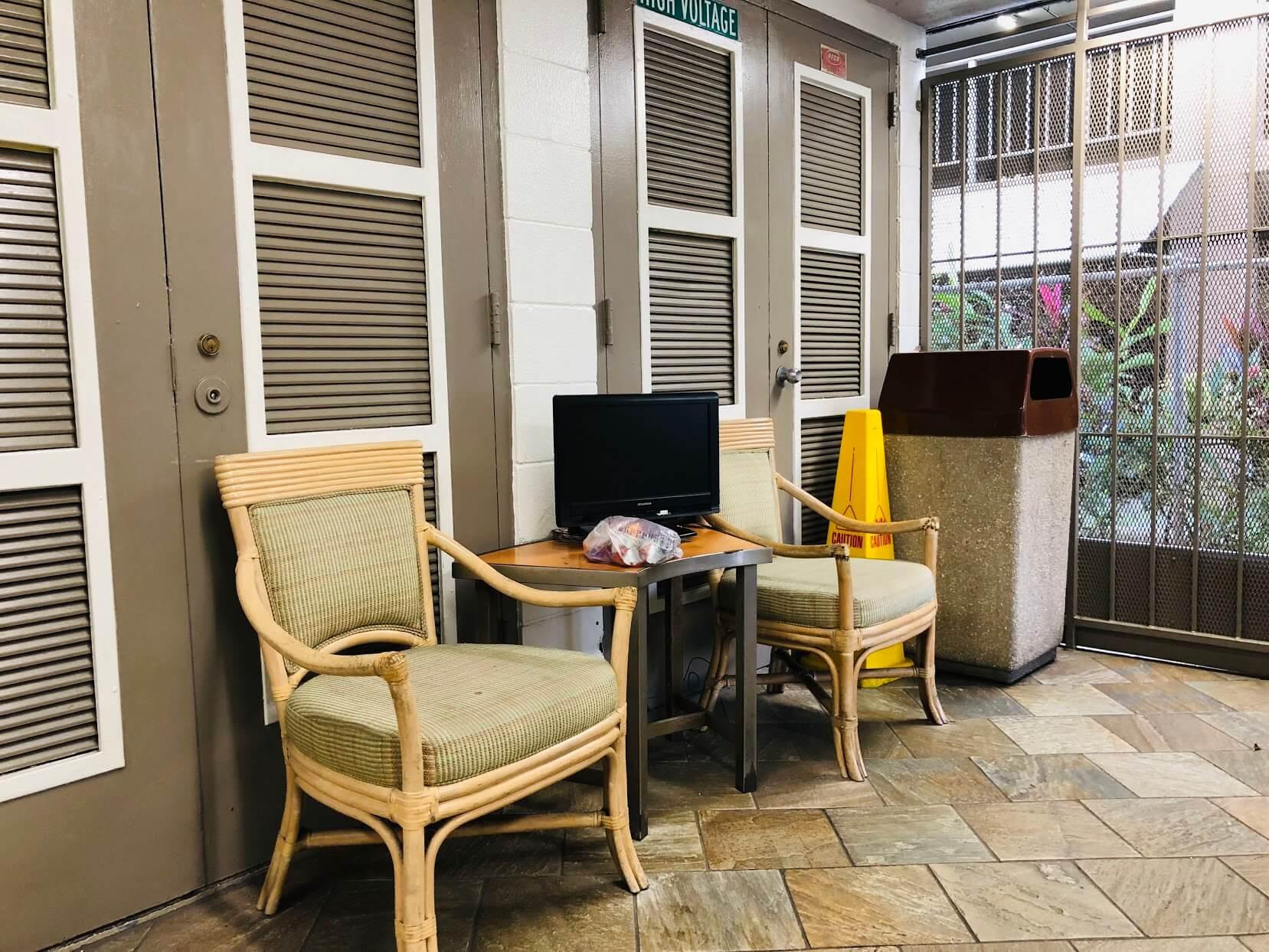 Ala Wai Town Houseの椅子