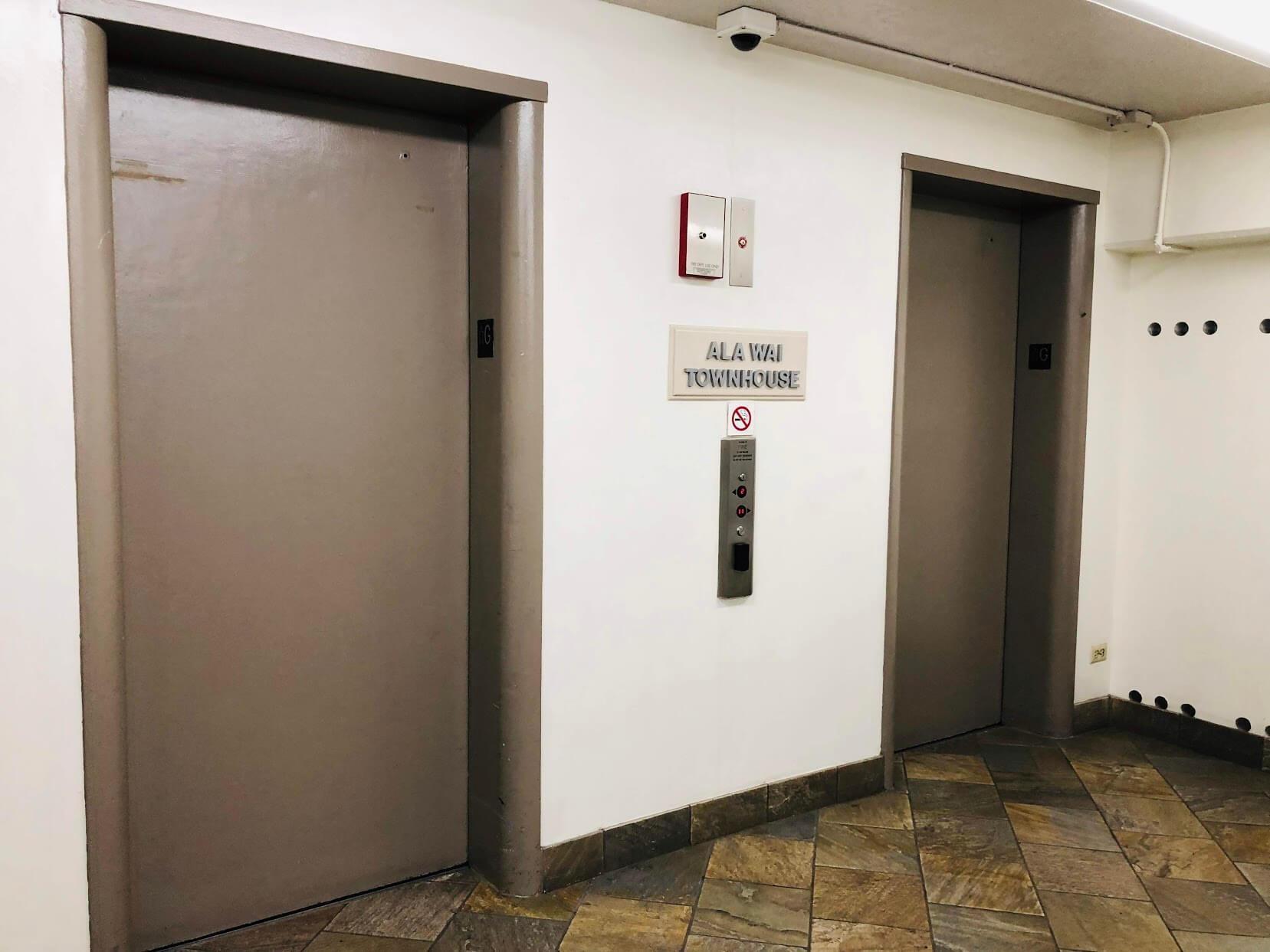 Ala Wai Town Houseのエレベーター