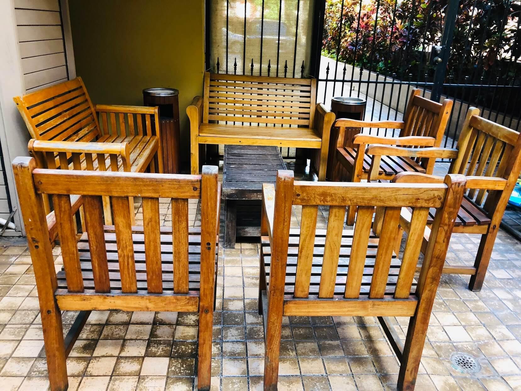 Bamboo Waikikiのテーブル