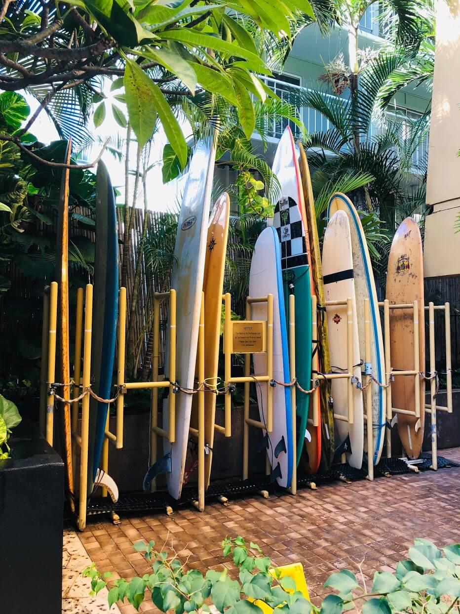 Bamboo Waikikiのサーフボード