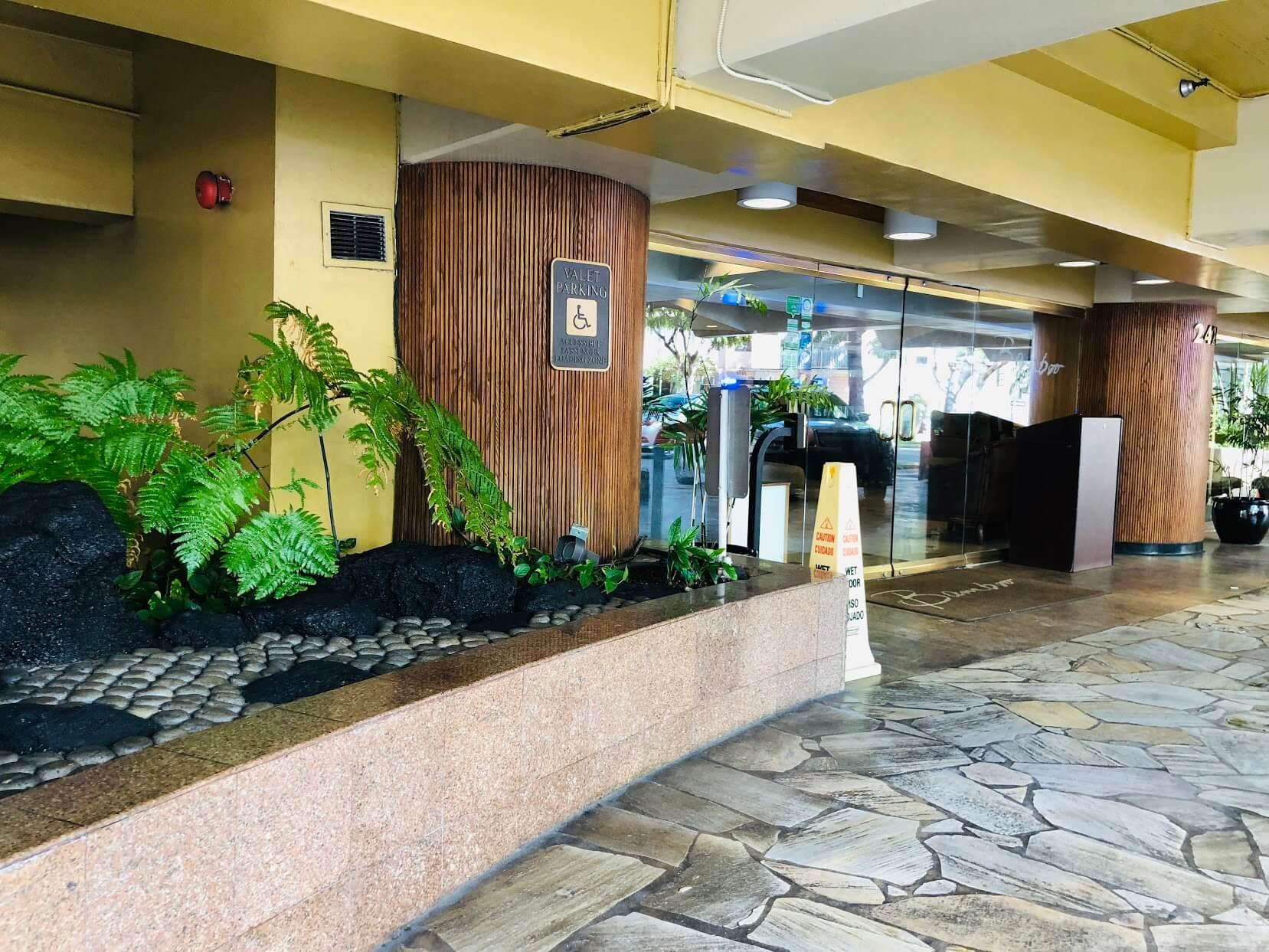 Bamboo Waikikiのエントランス