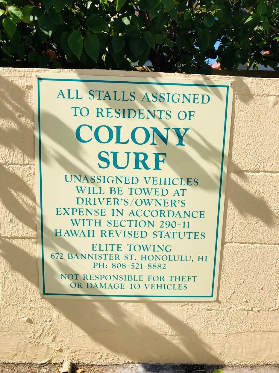 Colony Surfの注意書き