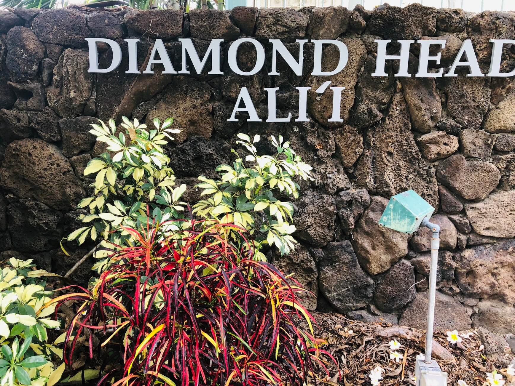 Diamond Head Aliiの看板