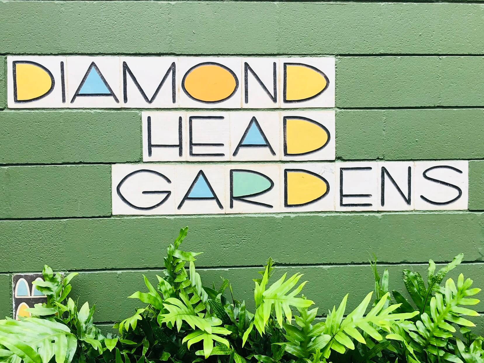 Diamond Head Gardensの看板