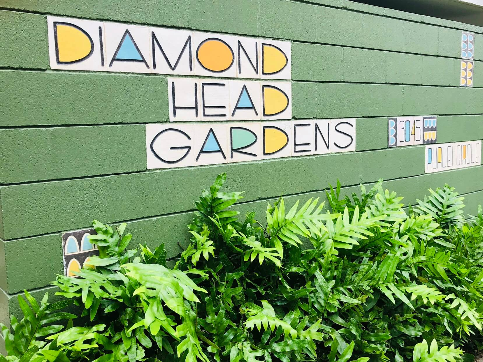 Diamond Head Gardensの看板