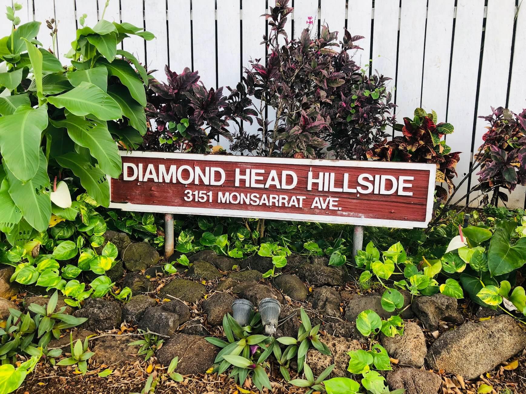 Diamond Head Hillsideの看板