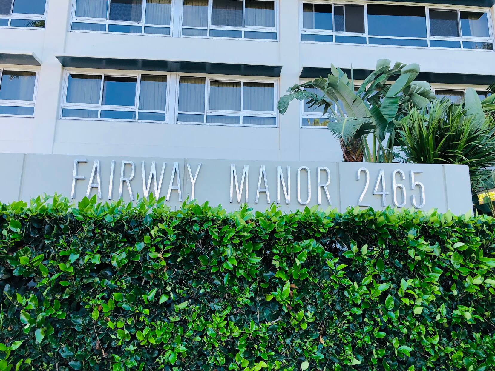 Fairway Manorの看板