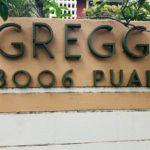 Gregg Apartmentの看板