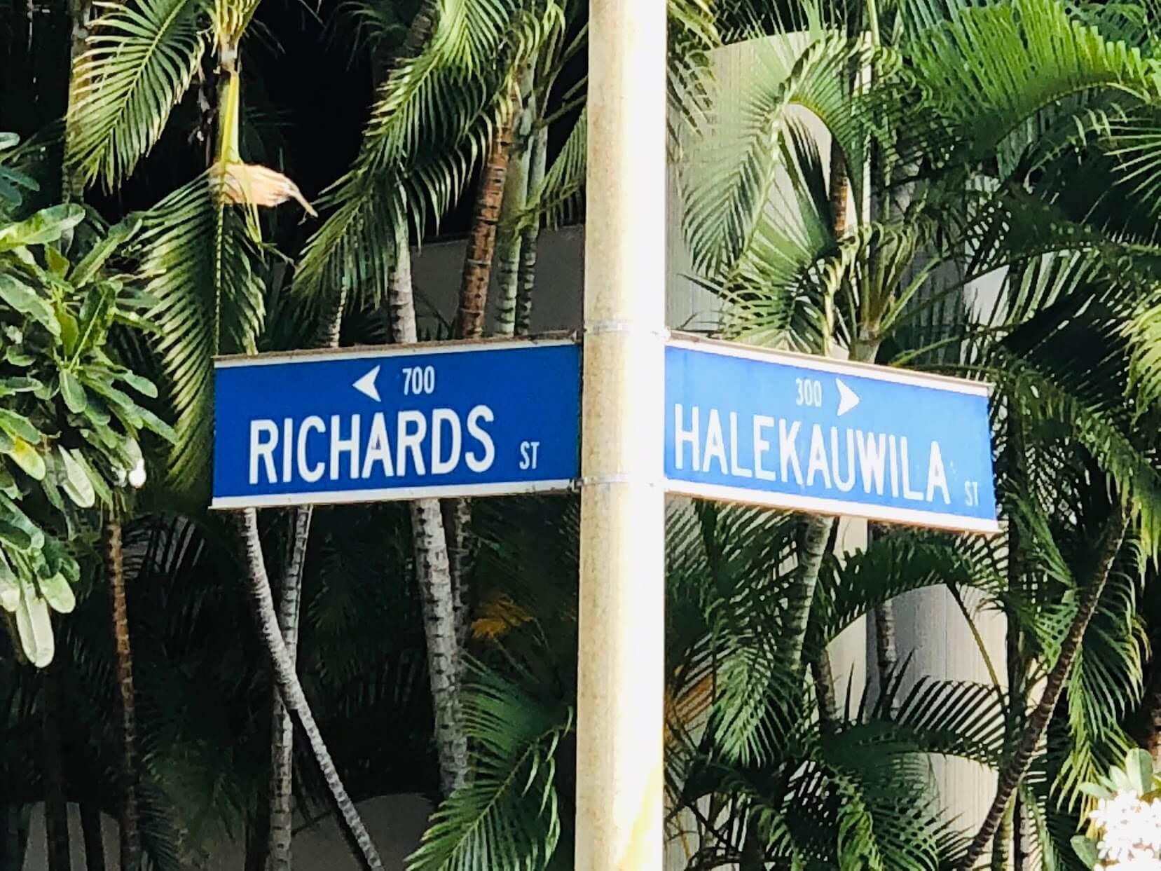 Harbor Squareの標識