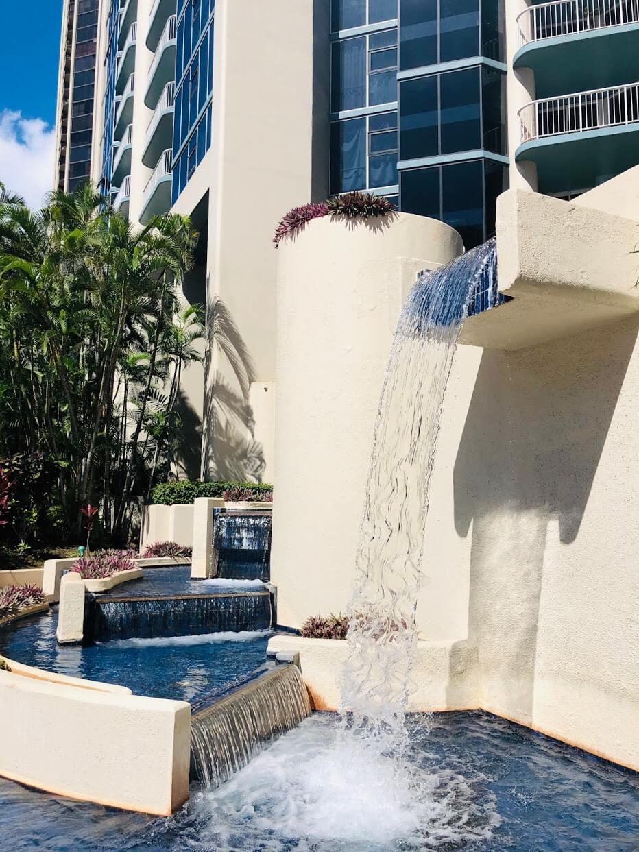 Honolulu Park Placeの噴水
