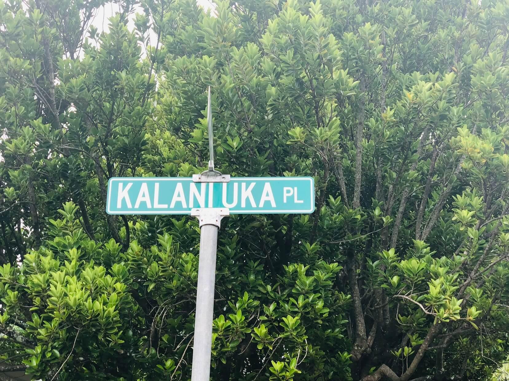 Kalani Iki Estatesの標識