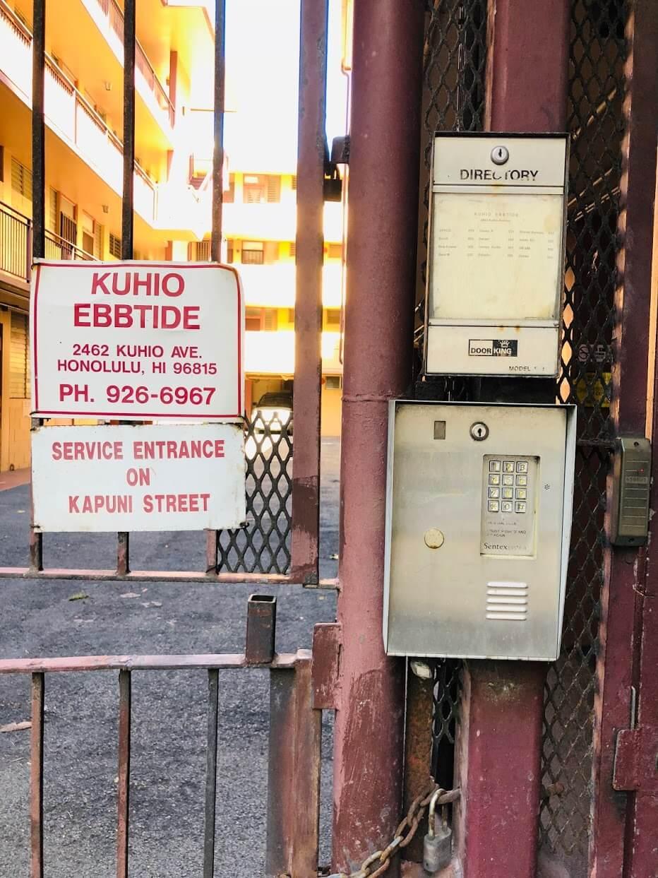 Kuhio Ebbtideのインターホン