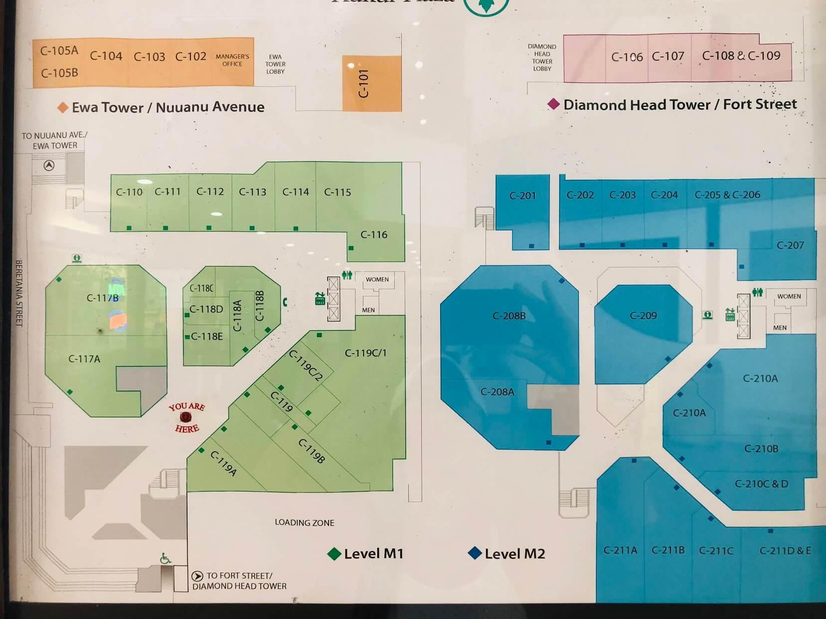 Kukui Plazaのマップ