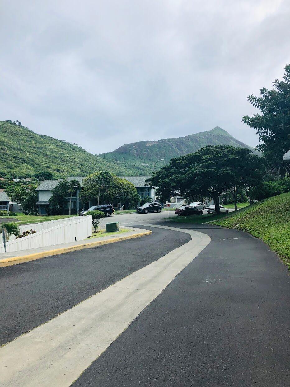 Mariners Villageの道路