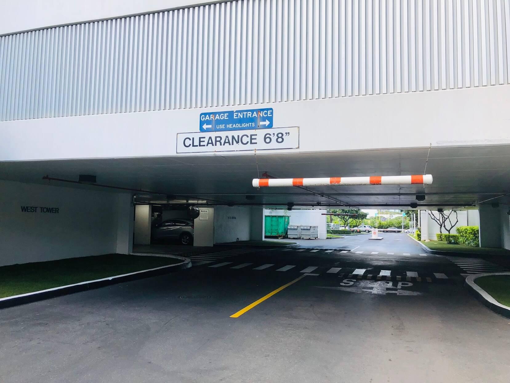 Moana Pacificの駐車場
