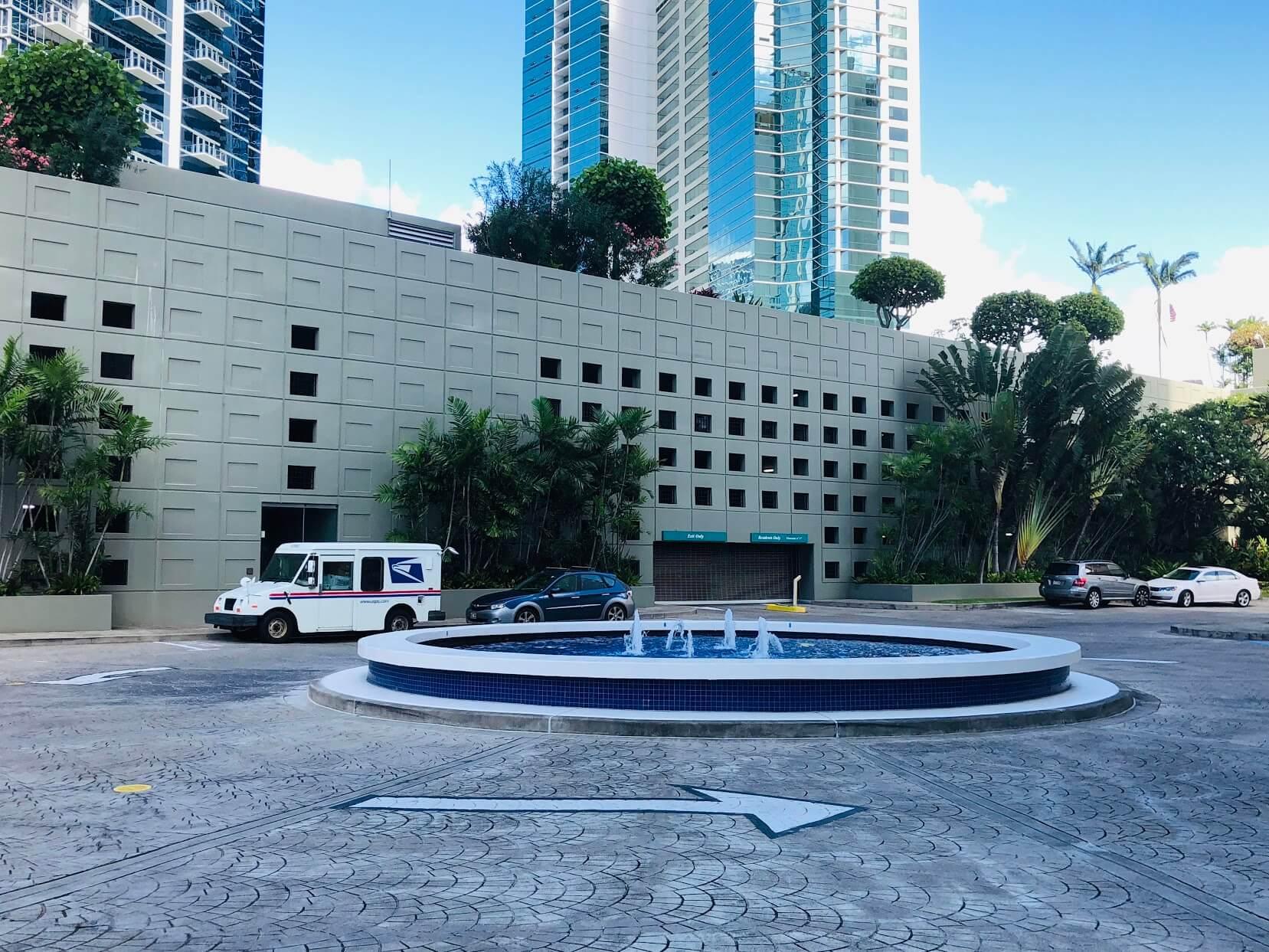 Nauru Towerの噴水
