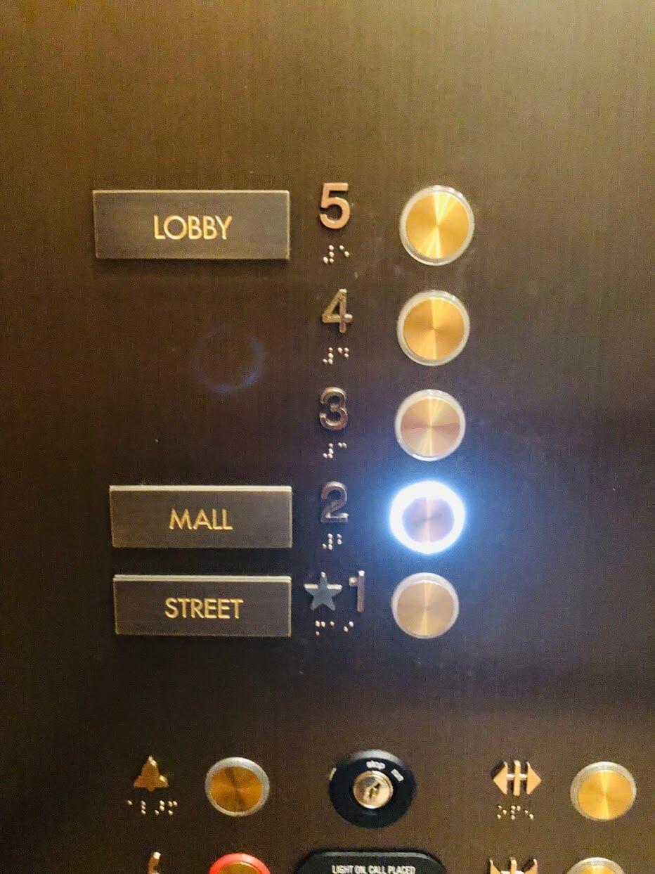 Lane Ala Moanaのエレベーター