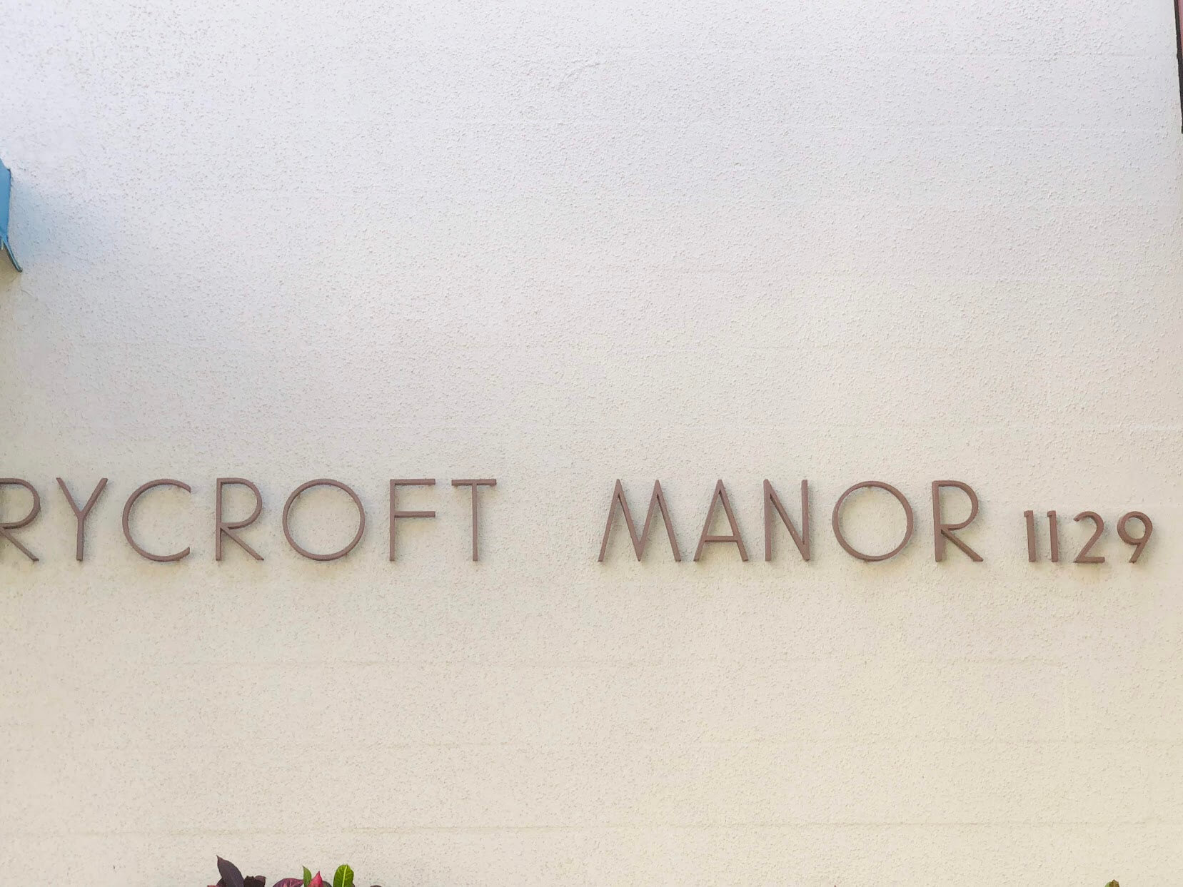 Rycroft Manorの看板