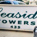 Seaside Towersの看板