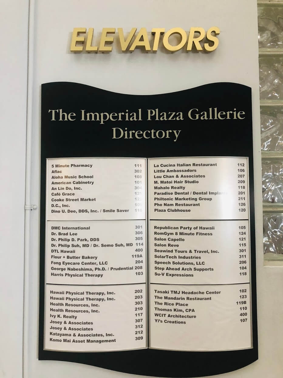 The Imperial Plazaの案内