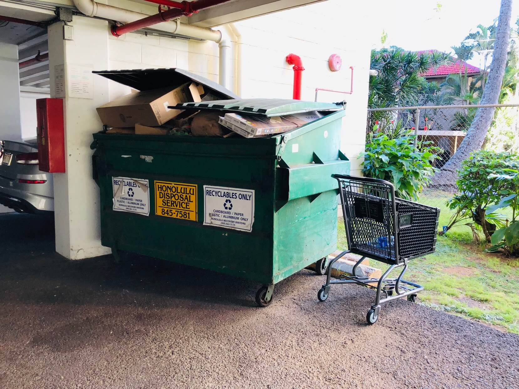 Waikiki Lanaisのゴミ置き場