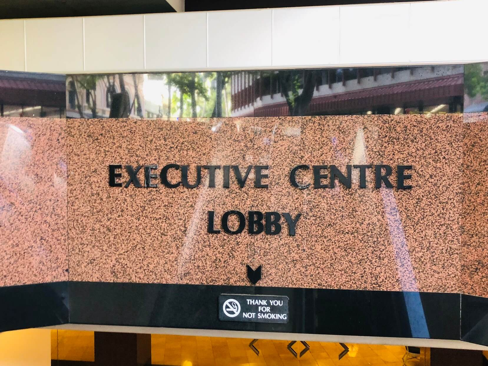 the Executive Centre Hotelの看板