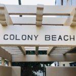 Colony Beachの看板