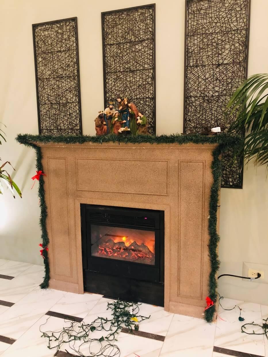 Heritage Houseの暖炉