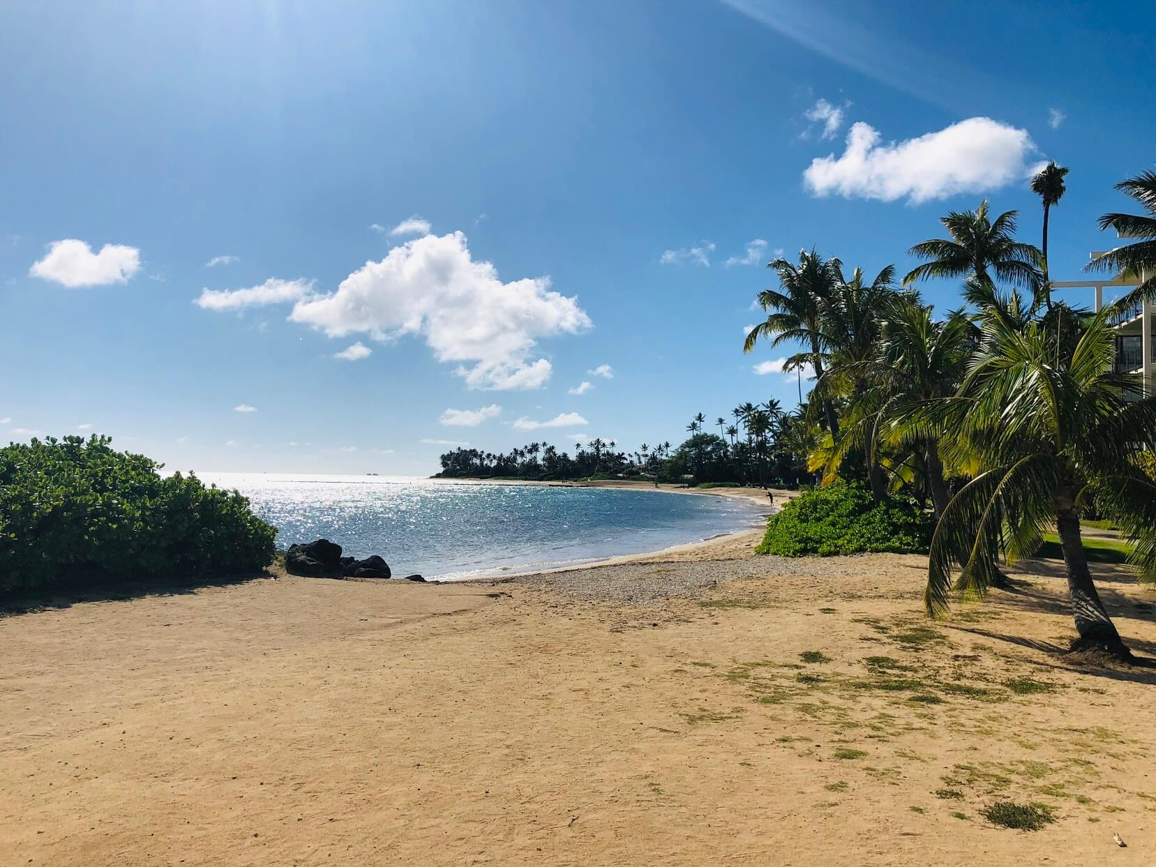 Kahala Beachの砂浜