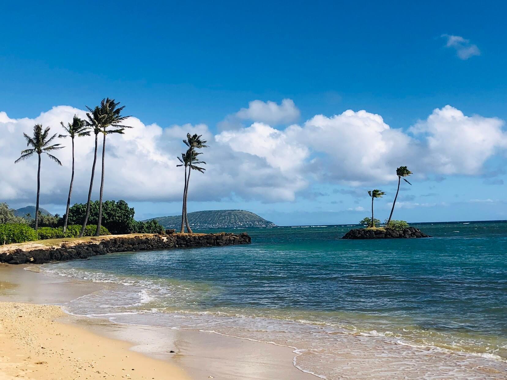 Kahala Beachのビーチ