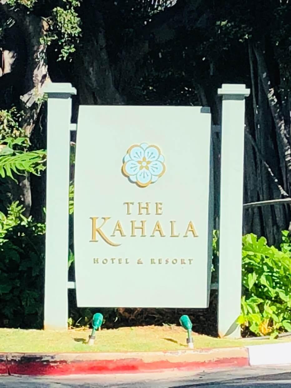 Kahala Beachの看板