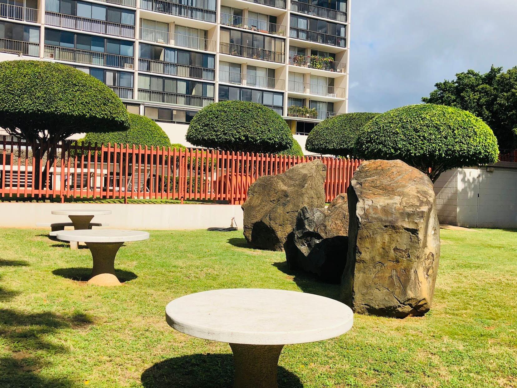 Kahala Tower 4300の庭