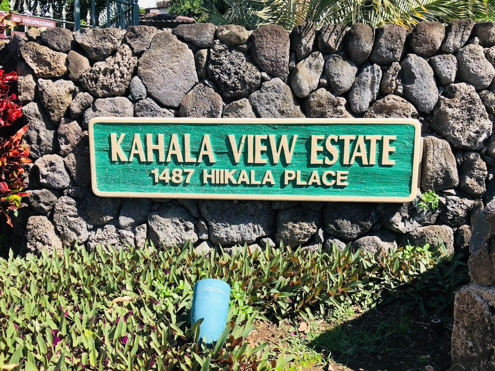 Kahala View Estatesの看板